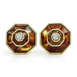 Boucheron Brown Agate and Diamond Earrings in Gold | FJ-B