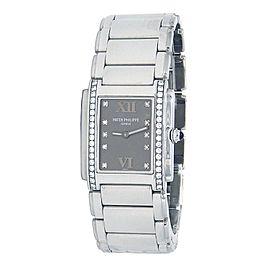 Patek Philippe Twenty 4 Stainless Steel Diamond Quartz Ladies Watch 4910/10A-010