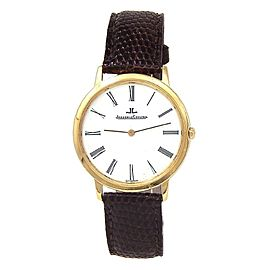 Jaeger LeCoultre 18k Yellow Gold Swiss Quartz Men's Watch 140 118 1