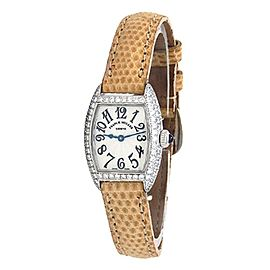 Franck Muller Cintree Curvex 18k White Gold Quartz Ladies Watch 2500 QZ D