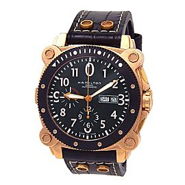 Hamilton Khaki Navy Belowzero Rose Gold Tone Stainless Steel Automatic H786460