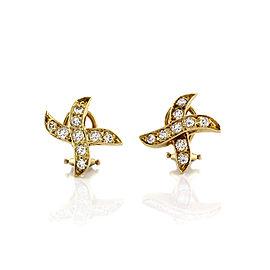 Diamond X Earrings in Gold