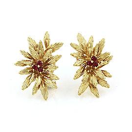 Tiffany & Co. Ruby Flower Earrings in Gold