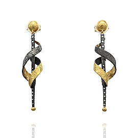 Lika Behar Dangle Earrings in Silver and Gold