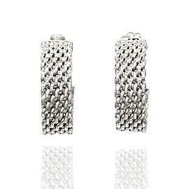 Tiffany Somerset Mesh Hoop Earrings in Silver