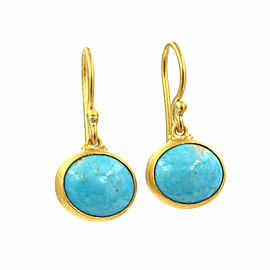 Lika Behar Pompei Turquoise Earrings in Gold