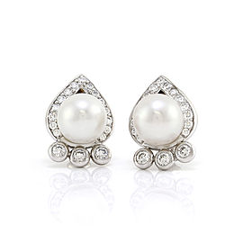 South Sea Pearl and Diamond Earrings in Gold