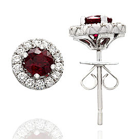 Ruby and Diamond Earrings in Gold