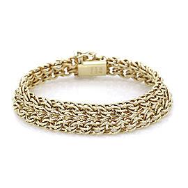 Tiffany Mesh Bracelet in Gold