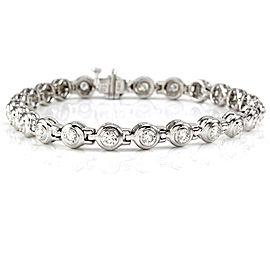 Bezel Set Diamond Inline Tennis Bracelet in 14K White Gold