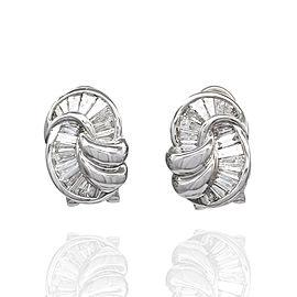 Diamond Ying Yang Earrings in Gold