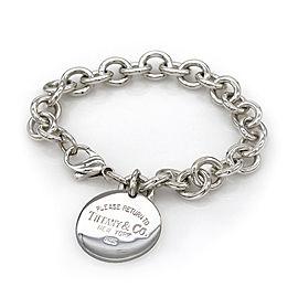 Tiffany & Co. Return to Tiffany Round Tag Bracelet in Silver