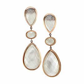 Mother-of-Pearl Dangle Earrings in Gold