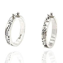 Lois Hill Mother of Pearl Hoop Earrings in Silver