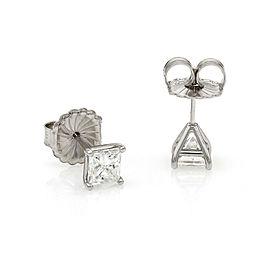 Princess Diamond Stud Earrings in Gold