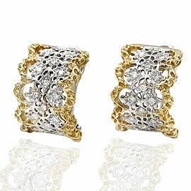 Cut Out Diamond Earrings in Gold