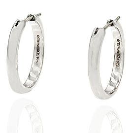 Tiffany Hoop Earrings in Silver
