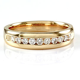 Gent's Round Diamond Band/ Ring in 14K Yellow Gold