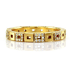 Norman Covan Diamond Open Squares Eternity Gold Band