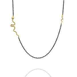 Lika Behar Snake Necklace in Silver and Gold