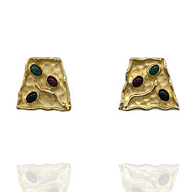 14K Yellow Gold Multi-Stone Earrings
