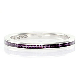 Hidalgo Purple Enamel Stackable Eternity Band in Gold