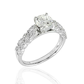 18kw Prong Set Diamond Engagement Ring Rd Center