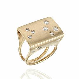 Modernist Diamond Ring in Gold