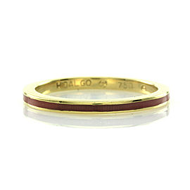 Hidalgo Pink Enamel Stackable Eternity Band in Gold