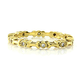 Hidalgo Diamond Eternity Band with Bones in Gold