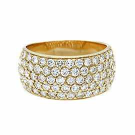 Five Row Diamond Ring in Gold