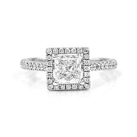 1.01ct GIA Certified Princess Cut Diamond Engagement Ring in 14K White Gold