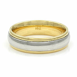 Wedding Band in Gold and Platinum