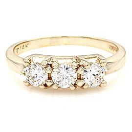 0.70ctw Diamond Three Stone Ring in 14K Yellow Gold