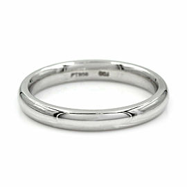 Inside Round Wedding Band Ring in Platinum