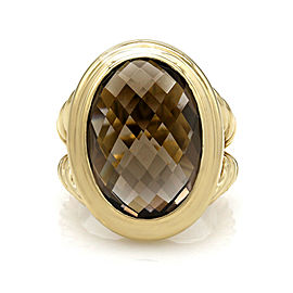 Yurman Smokey Quartz Ring in Gold