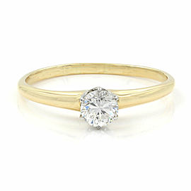 0.35ct Diamond Solitaire Engagement Ring in 18K Yellow Gold
