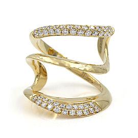 Split, Diamond Pave Ring in Gold