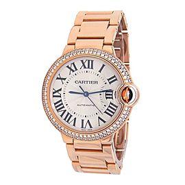 Cartier Ballon Bleu 18k Rose Gold Automatic Mid-Size Watch WE9005Z3