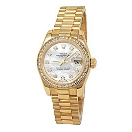 Rolex Datejust (Z Serial) 18k Yellow Gold Automatic Ladies Watch 179138