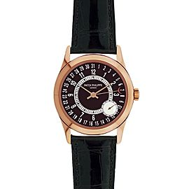 Men's 18k Rose Gold Patek Philippe Calatrava 6000R Automatic Dress Watch