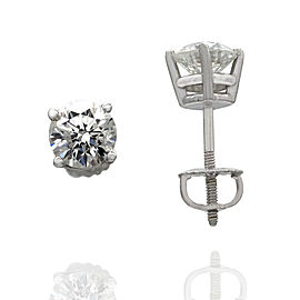1.24ctw Diamond Stud Earrings in 14K White Gold