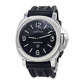 Panerai Historic Luminor Base Logo Stainless Steel Mechanical Men Watch PAM00000