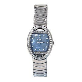 Ebel Beluga 18K White Gold Diamond Bezel Swiss Quartz Ladies Watch E3057B1