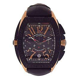 Franck Muller Conquistador Grand Prix 18k Rose Gold PVD Automatic Watch 8900CCGP