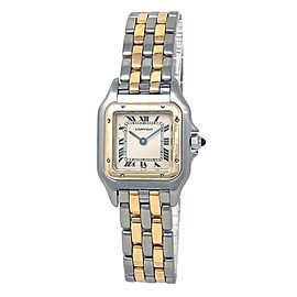 Cartier Panthere 18k Yellow Gold Stainless Steel Quartz Ladies Watch W2PN0006