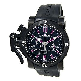Graham Chronofighter Oversize Diver Deep Purple Black PVD Watch 2OVEZ.B24B.K10B