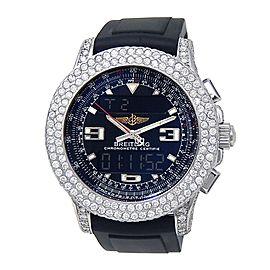 Breitling Airwolf Raven Stainless Steel Quartz Diamond Men's Watch A78364
