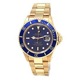 Rolex Submariner (X Serial) 18k Yellow Gold Automatic Men's Watch 16618