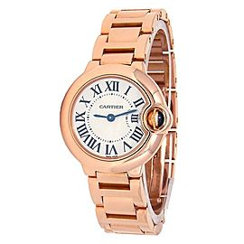 Cartier Ballon Bleu 18k Rose Gold Quartz Ladies Watch W69002Z2